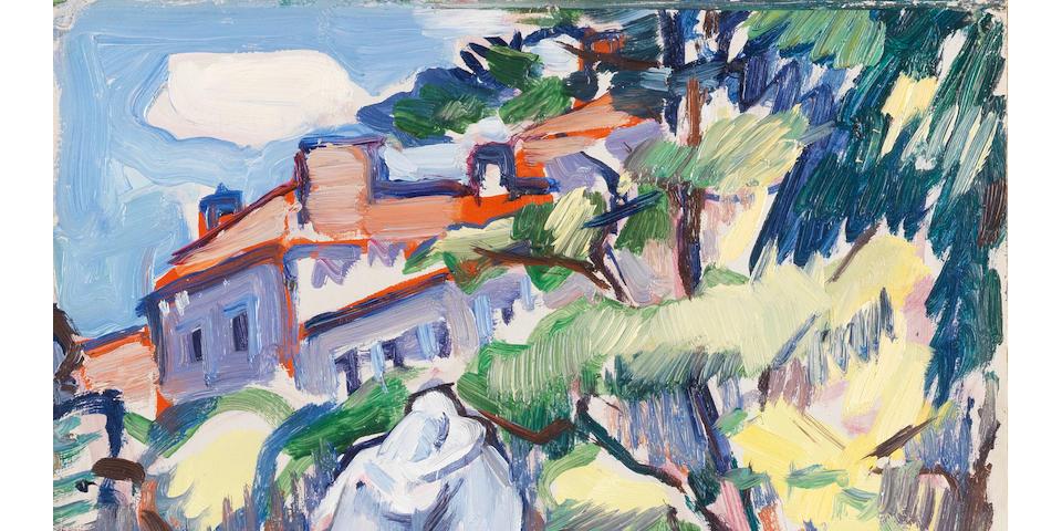 Samuel John Peploe, RSA (British, 1871-1935) Les Jardins de Luxembourg, Paris 35 x 27 cm. (13 1/2 x 10 5/8 in.)
