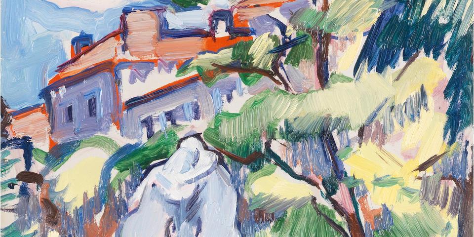 Samuel John Peploe, RSA (British, 1871-1935) Les Jardins du Luxembourg, Paris 35 x 27 cm. (13 3/4 x 10 5/8 in.)