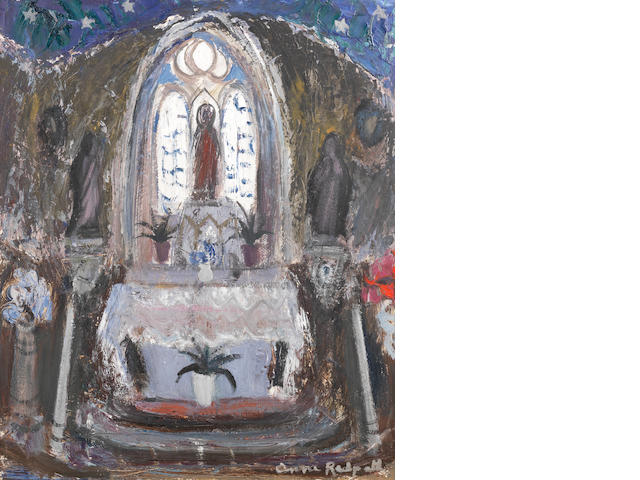 Anne Redpath, OBE RSA ARA LLD ARWS ROI RBA (British, 1895-1965) Church Interior Portugal (1962) 61.8 x 52 cm. (24 1/4 x 20 1/2 in.)