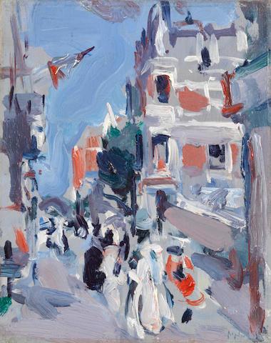 Samuel John Peploe, RSA (British, 1871-1935) Paris Plage 24 x 18.8 cm. (9 1/2 x 7 3/8 in.)
