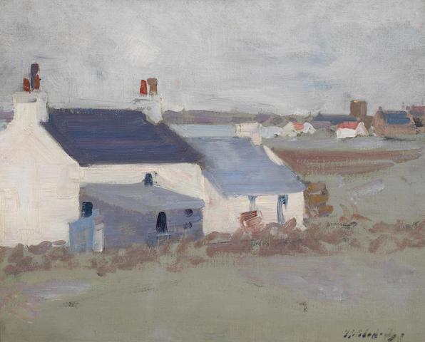 Francis Campbell Boileau Cadell, RSA RSW (British, 1883-1937) Iona Village 37.5 x 45.1 cm. (14 3/4 x 17 3/4 in.)