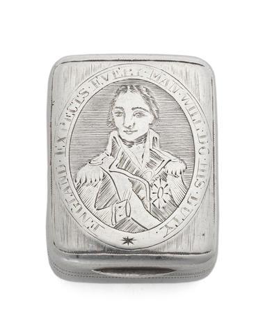 A George III silver Nelson vinaigrette by Matthew Linwood, Birmingham 1805