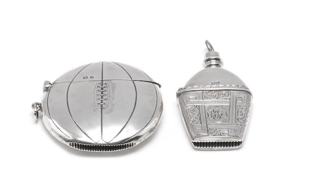Of Sporting Interest: An Edwardian silver vesta case in the form of a basketball by Henry Wilkinson, Birmingham, 1906  (4)