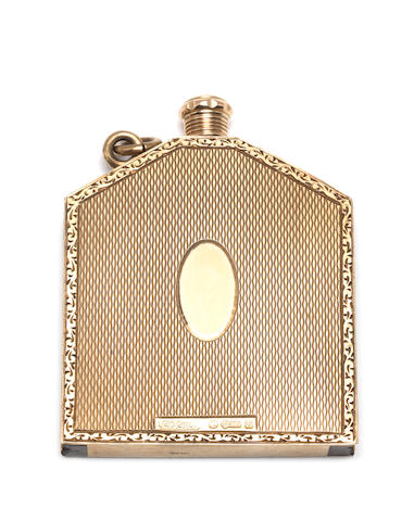 A 9ct gold tinder box lighter by London Chain Bag Co Ltd,  London, 1926
