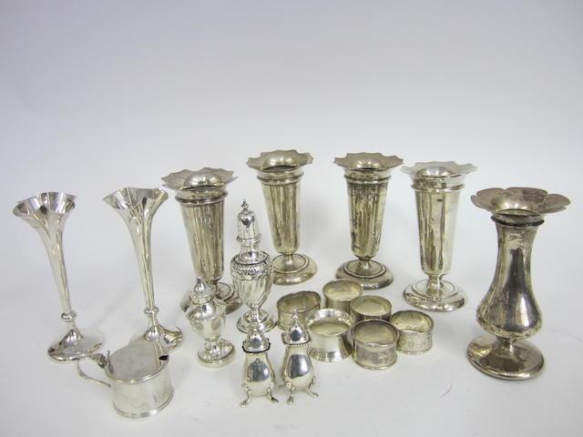 A set of four silver vases Birmingham 1939  (Qty)