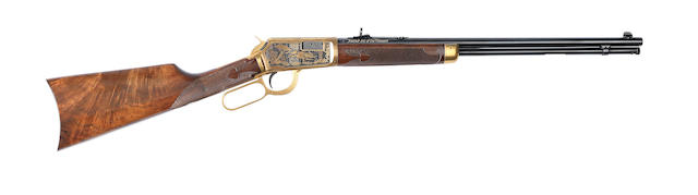 A .22 (Win. Mag) 'Model 9422M' 'Matched Set Of 1000' lever-action rifle by Winchester, no. MR584A In its carton