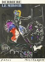 Marc Chagall (Russian/French, 1887-1985) Two Lithographs from Derrière Le Miroir 'Eiffel Tower with Donkey', 'Night in Paris', printed in colours, 1954, on wove, from the edition of 2500, printed by Mourlot Frères, published by Maeght Editeur, Paris, 384 x 280mm (15 1/8 x 11in)(SH) 2 unframed