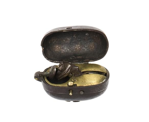 A Japanese Flintlock Tinderlighter Netsuke