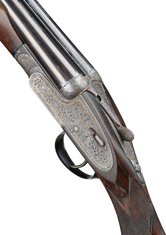 A fine 20-bore (3in) 'Royal' single-trigger self-opening sidelock ejector gun by Holland & Holland, no. 40404/40085 In its lightweight leather case