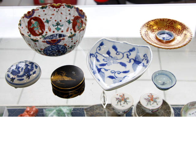 A group of Asian ceramics,