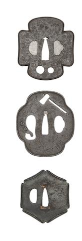 Three Iron Myochin Tsuba