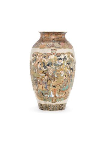 A Satsuma ovoid vase Meiji Period