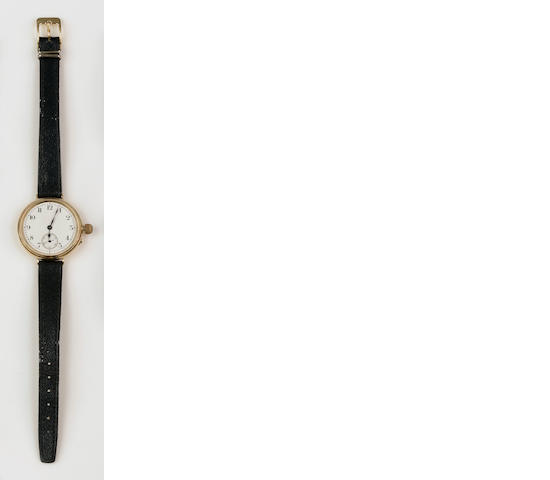 An 18ct gold manual wind wristwatch