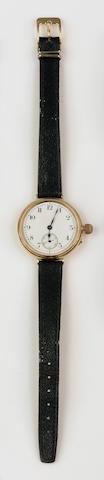 An 18ct gold manual wind wristwatch