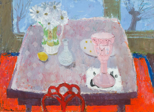 Anne Redpath, OBE RSA ARA LLD ARWS ROI RBA (British, 1895-1965) The Victorian Vase 54.5 x 73.5 cm. (21 7/16 x 28 15/16 in.)