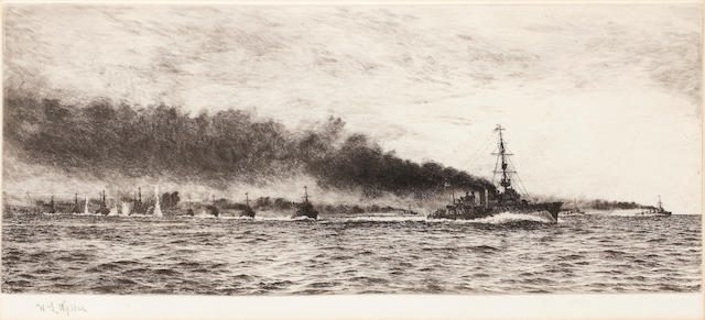 ETCHING: WYLLIE (WILLIAM LIONEL) The British Fleet at Sea, 170 x 420mm.,