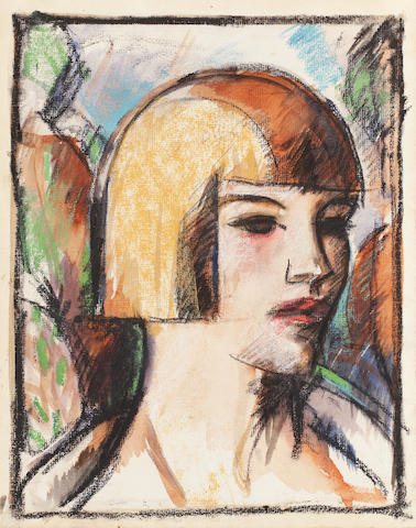 John Duncan Fergusson RBA (British, 1874-1961) Nellie 30 x 24 cm. (11 13/16 x 9 7/16 in.)