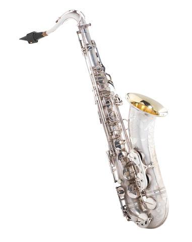 A silvered Selmer Mark VI Tenor Saxophone, 1955 (4)