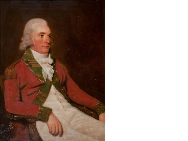 Sir Henry Raeburn R.A (1756-1823) Three Quarter Length Portrait of Colonel Thomas Balfour of Elwick, seated, in uniform 90 x 70 cm. (35 7/16 x 27 9/16 in.)