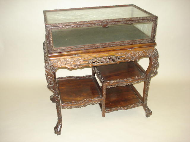 A 19th Century carved rosewood bijouterie table