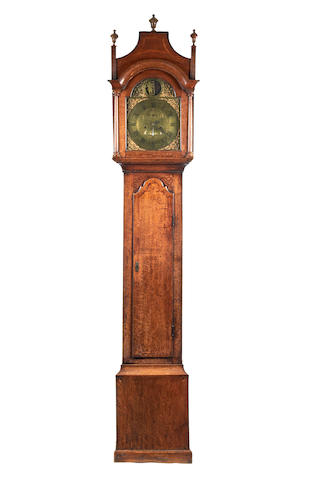 A good 18th century oak 8 day longcase clock, with rocking dial John Bunting. Long Buckby (Northants) 1700-1780