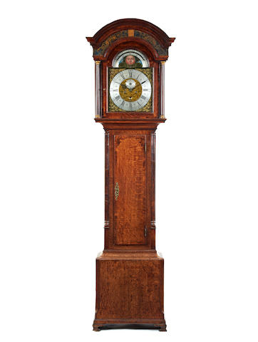 A good 18th century crossbanded oak 8 day longcase clock David Collier. Gatley. 1721-1792