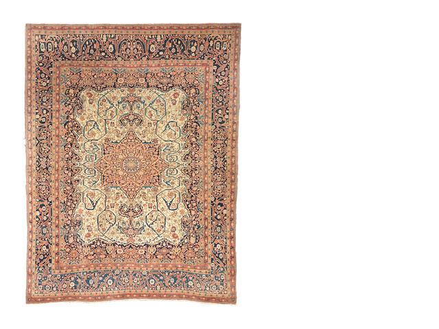 A Mohtashem Kashan carpet, Central Persia, circa 1890, 283cm x 222cm