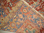 A Heriz carpet, North West Persia, 352cm x 259cm