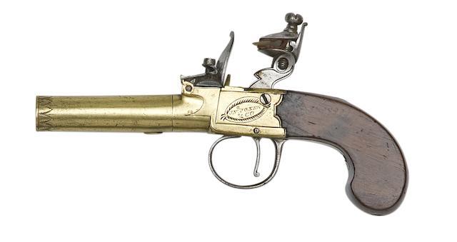 A 54-Bore Flintlock Box-Lock Pocket Pistol
