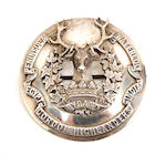 A silver Gordon Highlanders officer's Plaid Brooch