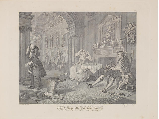 After William Hogarth (British, 1697-1764) Hogarth's Kupferstiche The book of 88 engravings by Ernst Ludwig Riepenhausen, with the plates inscribed 'W Hogarth inc. E Riepenhausen sculp', 200 x 250mm (PL), 260 x 385mm (Vol), together with 13 sheets of engravings, 7 from the series 'Industry and Idleness' and 6 from 'Hudibras', all later states, on wove with wide margins, 645 x 480mm (SH) Vol + unframed coll