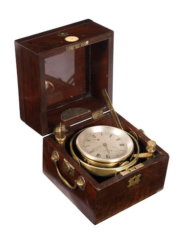 A 19th century two day marine chronometer, by Henry Frodsham, Liverpool.