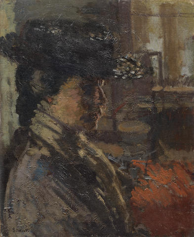 Walter Richard Sickert A.R.A. (British, 1860-1942) Le Corsage Violet 50.8 x 40.2 cm. (20 x 15 7/8 in.)
