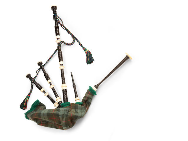 A set of ivory mounted bagpipes