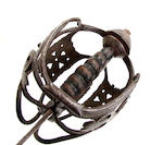 A mid 18th century Scottish basket hilted backsword