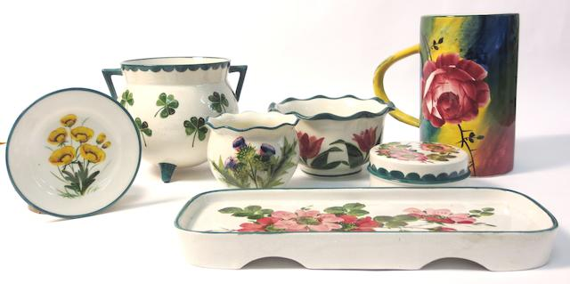 A collection of Wemyss pottery