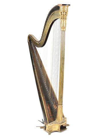 A Regency Greek Chromatic Harp by Sebastian Erard, Great Marlborough Street, London (1)