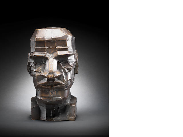 Sir Eduardo Paolozzi (British, 1924-2005) Kant 38.2 cm. (15 in.) high