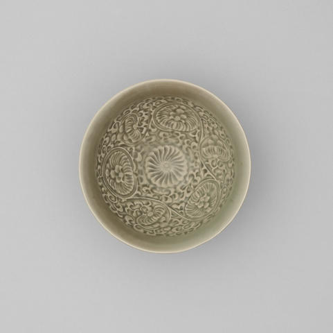 A yaozhou celadon glazed conical bowl Song Dynasty, 12th century