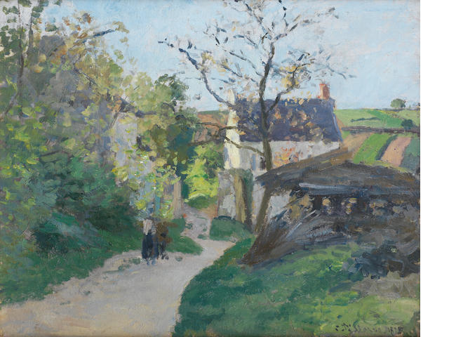 Camille Pissarro (French, 1830-1903) Le grand noyer à l'Hermitage