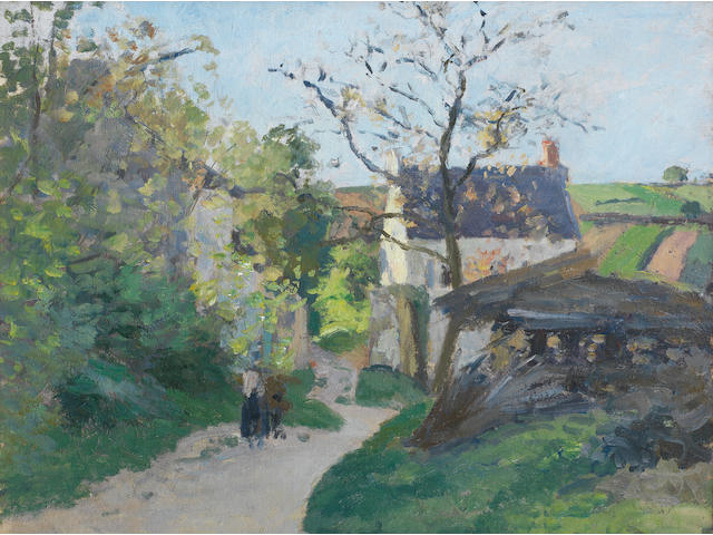 Camille Pissarro (French, 1830-1903) Le grand noyer à l'Hermitage