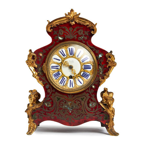 A 19th century English Louis XV boulle style mantle timepiece Arnold & Charles Frodsham, 84 Strand, London. No.644