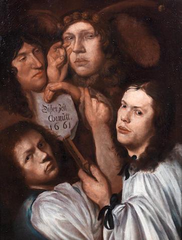 Attributed to Karel Skré ta (Prague 1610-circa 1674) An acting company