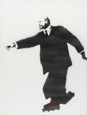 Banksy (b. 1975) Lenin on Rollerblades   2003