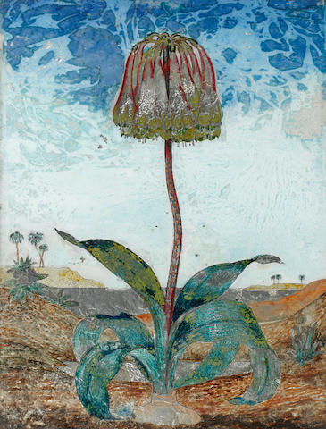 Dora Carrington (British, 1893-1932) Exotic flower 48.3 x 36.8 cm. (19 x 14 1/2 in.)