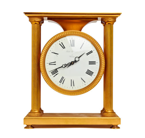 An Empire style gilt brass solar desk clock Patek Philippe. Ref. 1642. Case no. 810.