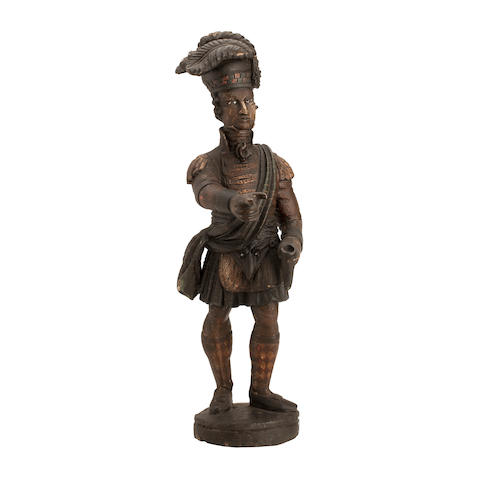 A mid-19th century tobacconist's advertising figure