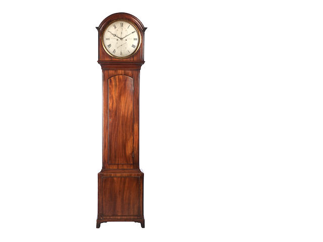 A Regency mahogany domestic regulator The dial engraved Thomas Reid & Co, Edinburgh