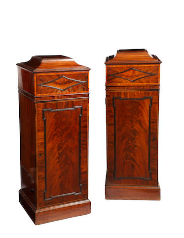 A pair of  mahogany dining room pedestalsConverted from a George IV/William IV sideboard