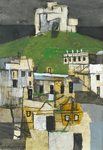 Keith Vaughan (British, 1912-1977) Pickering Castle 14.4 x 9.8 cm. (5 5/8 x 3 7/8 in.)